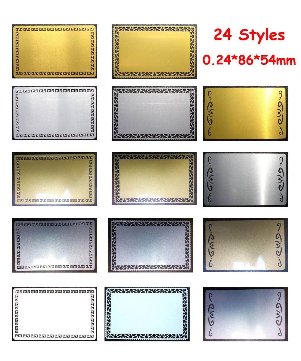 0.24 мм 100 шт. пустой сублимации металлический имя для печати карт пустой визитной карточки сублимационные чернила трансферная бумага