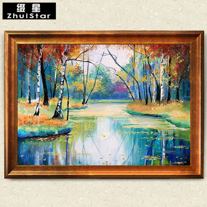 5D DIY Diamond Painting Forest River Full Crystal Square Diamond Cross Stitch Needlework Home Decor Mosaic Painting Embroidery