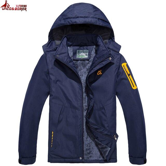 Cheap UNCO&BOROR plus size M~6XL 7XL new Warm Outwear Winter Jacket Men Windproof waterproof Hood women Jacket Warm Men Parkas coat