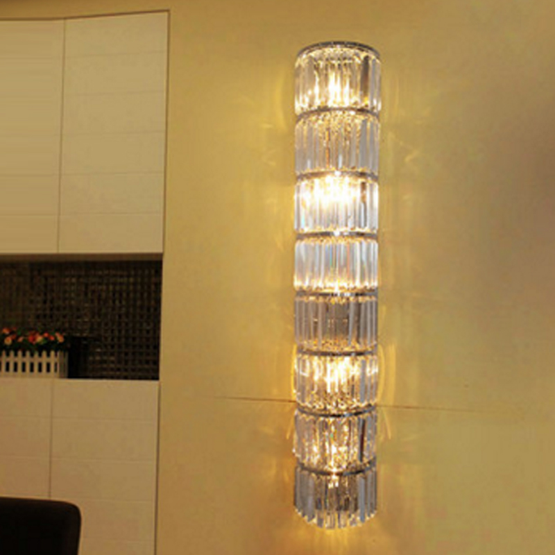 Mur de led montage lumière éclairage à la maison moderne cristal applique de chevet abat-jour de style industriel lampes cristal salle de bains applique murale