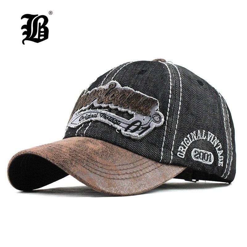 Men's Cap Baseball-Caps Snapback Hip-Hop-Cap Dad Hat Streetwear Women FLB Casual Denim