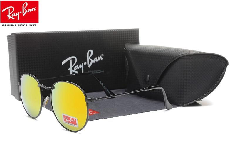 2018 New Arrivals RayBan Blaze Flat Lens Pilot Aviator Sunglasses Men/Women RB3447 Hiking Eyewear 5 colors все цены