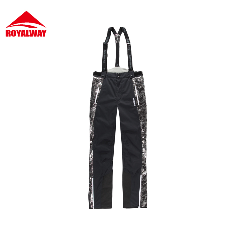 ROYALWAY Men Skiing Pants Snowboard Pants 2017 Outdoor High Quality Waterproof Windproof Thick Warm Snowboard Pants#RFJM4513G