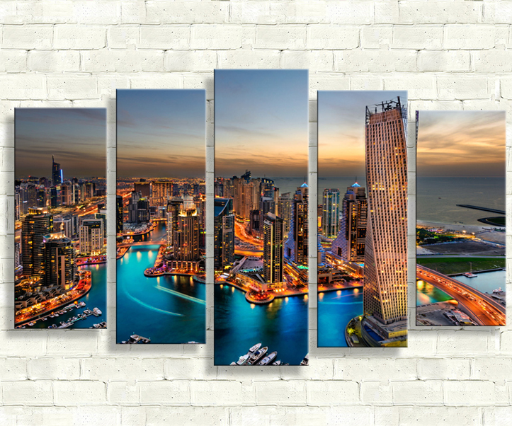 pictures 5 piece wall painting cuadros decoracion posters paint canvas back to the future paintings for living room wall