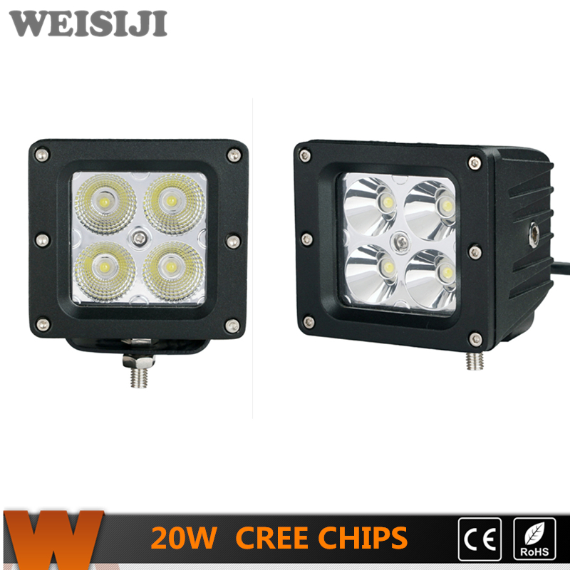 WEISIJI Quad Row Barra de luz LED Curvada