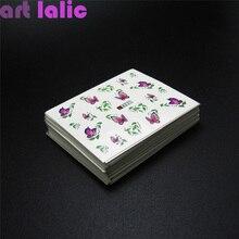 50 Sheets Mixed Designs Water Transfer Nail Art Sticker Watermark Decals DIY Decoration For Beauty Nail Tools Random Patterns