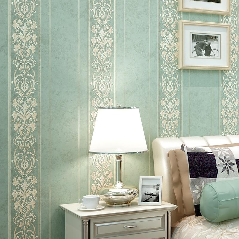 Lujo estilo europeo damasco rayas papel tapiz para - Papel pared moderno ...