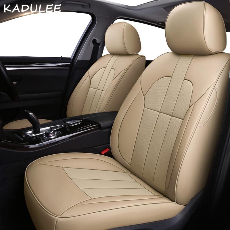 KADULEE leather car seat cover for SKODA Octavia Yeti Superb Rapid Fabia Combi Kodiaq Automobiles Seat