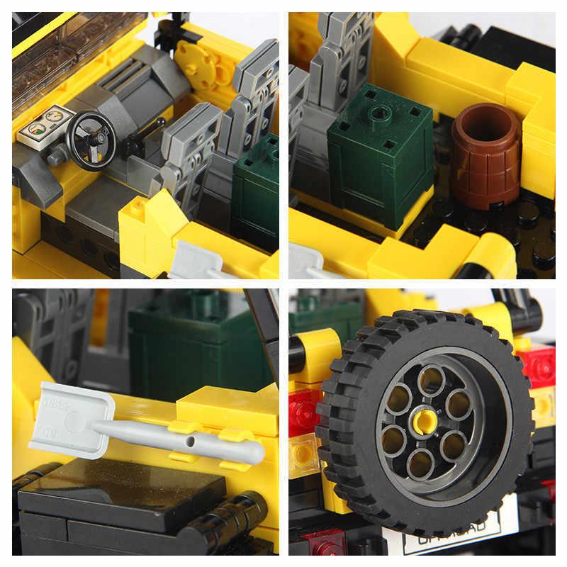 Новый 610 шт. Offroad Приключения набор Legoings строительные блоки автомобиль серии Кирпичи игрушки для детей развивающие подарки детей