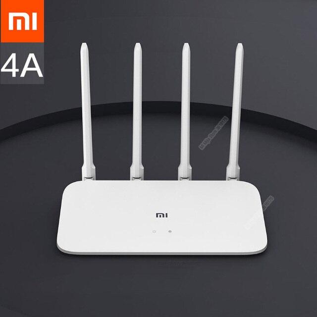 Xiaomi mi roteador 4a, versão gigabit 2.4ghz 5ghz wifi 1167mbps wifi repetidor 128mb ddr3 ganho alto extensor de rede 4 antenas