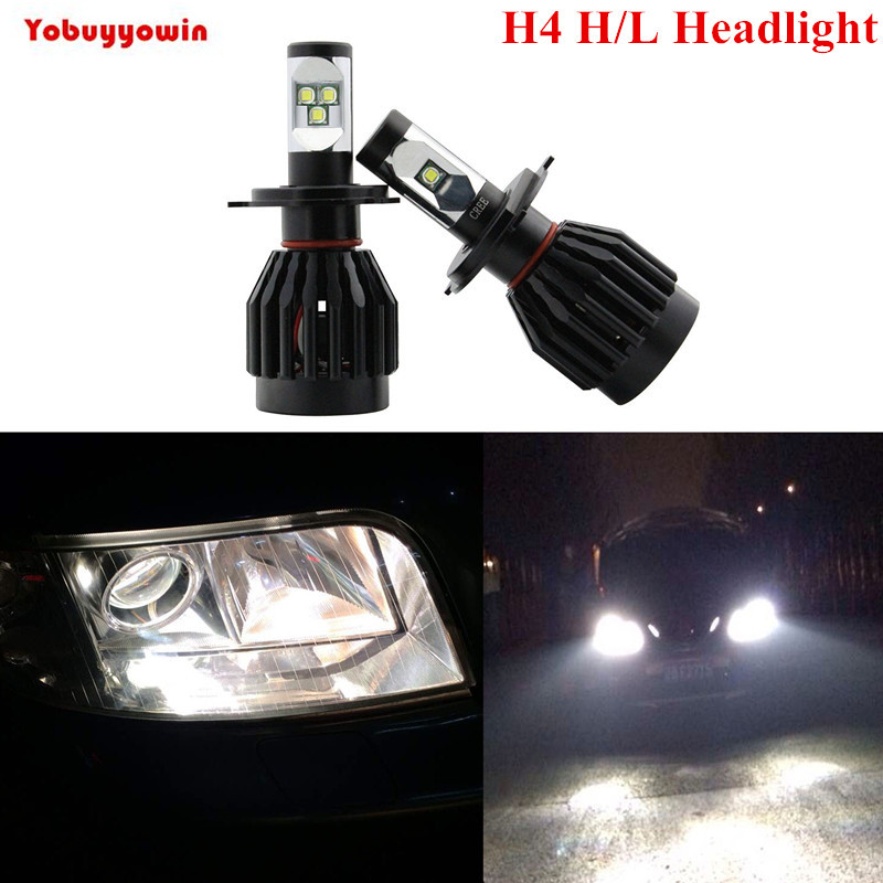 Car 80W 9000LM LED Headlight Canbus Kit For H4 9003 HB2 Hi lo Beam Xenon White Replace HID,9005 HB3 9006 HB4 H7 H8 H11 Available