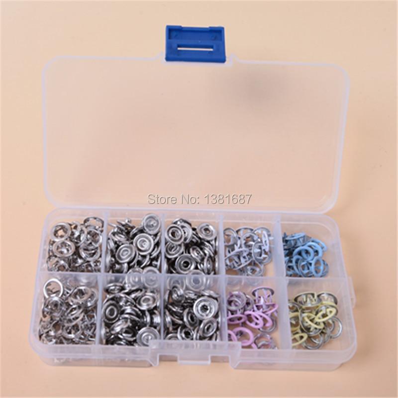 80 készlet 9,5 mm-es fémbillentyűs színes festékcsat, öt karmos - Művészet, kézművesség és varrás - Fénykép 3
