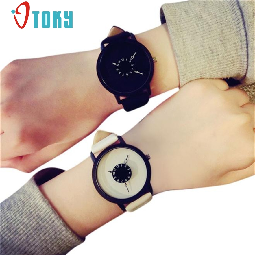 OTOKY Lovers Watch Women Men  Wristwatches Clock leather Relojes Quartz Wristwatch Casual Couples Wrist Watch #20 Gift 1pc xiniu retro wood grain leather quartz watch women men dress wristwatches unisex clock retro relogios femininos chriamas gift 01