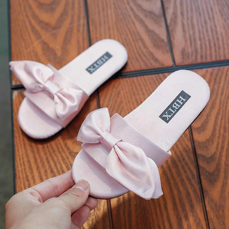 ใหม่ฤดูร้อน 2019 เด็กรองเท้าแตะเด็กสาวเจ้าหญิงสไลด์เด็กชายหาดแฟชั่นรองเท้าแตะสีชมพูหวานนุ่มยี่ห้อรองเท้า