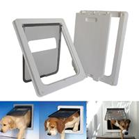 Home Garden Intelligent Control Large Free Access White Pet Access, Cat, Cat Dog Door Home,
