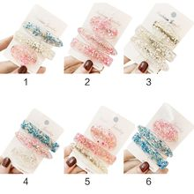 Korean Sweet Girl Geometric Duckbill Hair Clip Candy Color Jelly Acetate Metal Hairpin Elegant Student Styling Barrette