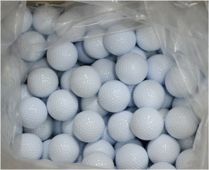 50PCS PGM Brand Driving Range Special Golf Training Ball Practice Double-deck Two Layer Exercise Rubber Surlyn Outdoor sports