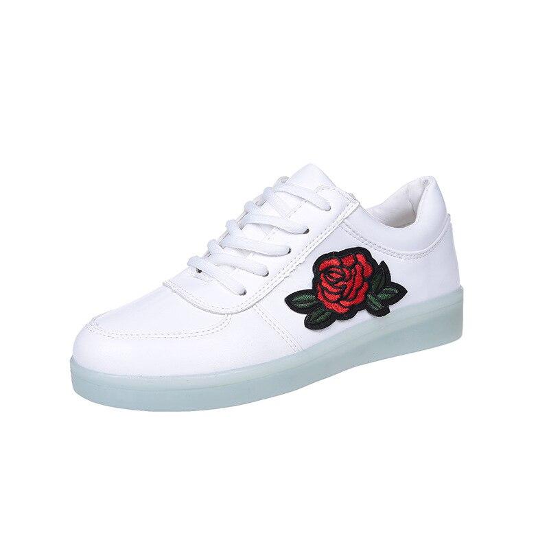 New 7 Colors Kids Boys Girls Women Men LED Light Up shoes Luminous USB Sneakers