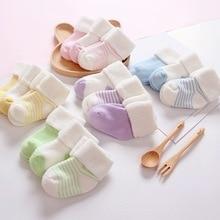 5 Pairs/Lot 5 Colors Unisex Baby Socks Floor Newborn Anti Slip Baby Cotton Toddler Boat Socks Winter Fall Socks