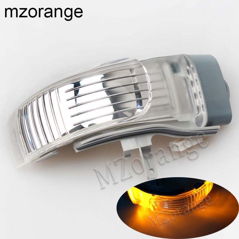 For VW Touran 2004 2005 2006 2007 2008 2009 2010 Outer Rearview Side Mirror LED Turn