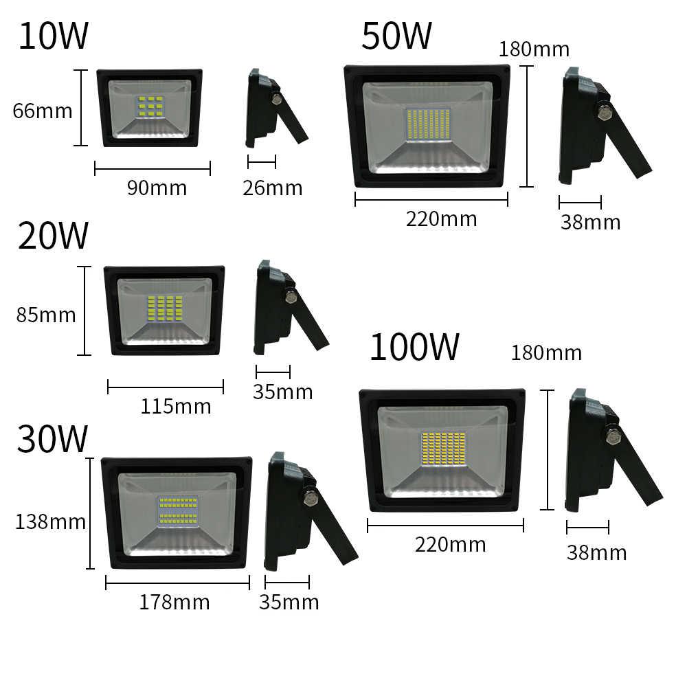 Водонепроницаемый IP65 светодиодный свет работы 10 W 20 W 30 W 50 W 100 W инженерно свет 220 V 230 V 240 V светодиодный наружного освещения настенный светильник