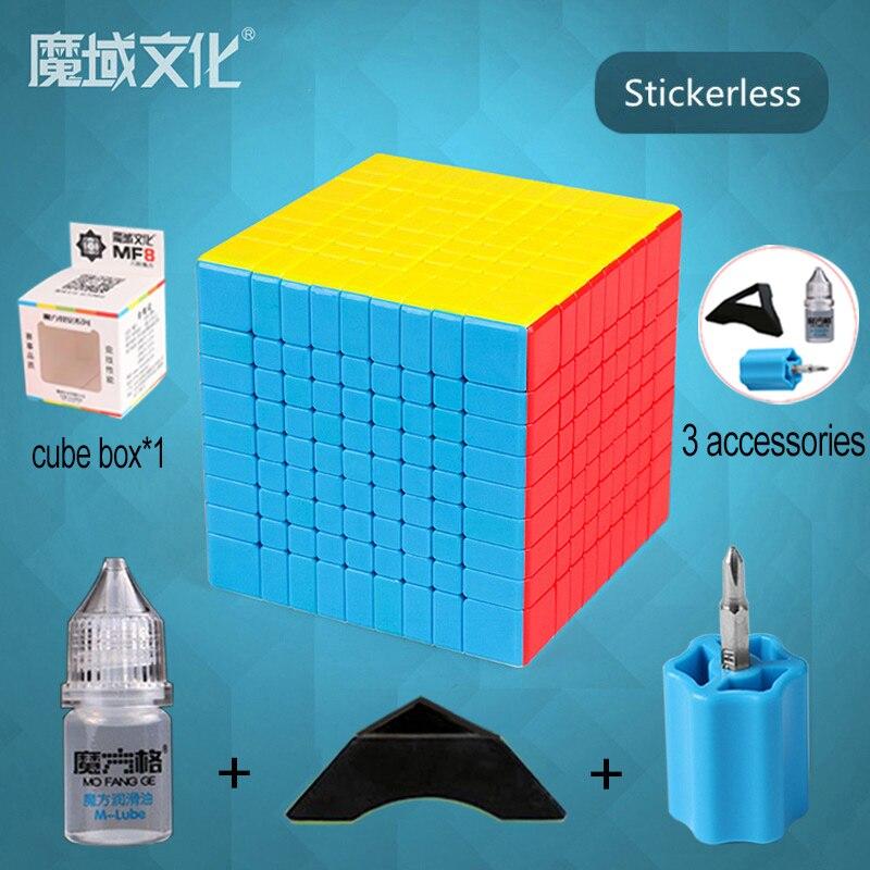 Konfon Semelle MOYU MF9 9x9x9 75 MM Cube magique 5 pièces Costume Neo Cube Adulte Enfants jouet éducatif d'anniversaire Festival Cadeau - 5