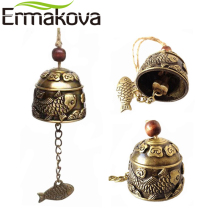 ERMAKOVA Siunaus Bell Luck Bell Feng Shui -metalli tuulenpuuska Fortune Home Car Hanging Ornaments Decor Lahjakasseja