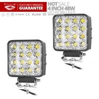 Freeshipping 2pcs 4inch 48W Led Work Light Lamp Car 4x4 ATV Thicken LED Working Lights Truck