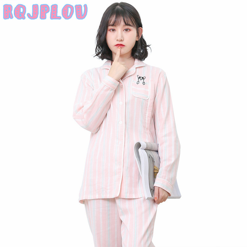 2018 Cotton Pregnancy Pajamas Sets Pajamas for Pregnant Women Soft Cotton Breastfeeding Clothes Nursing Sleepwear Set