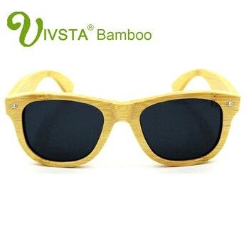250cf69896 IVSTA polarizadas gafas de sol de bambú hombres bambú polaroid artesanal  ecológico 2140 conducción pesca mujeres