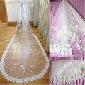 2016 New Romantic Wedding Veil Long Train Beaded 3M White/Ivory Luxury Wedding Accessories Wedding Dress Elegant Bridal Veils