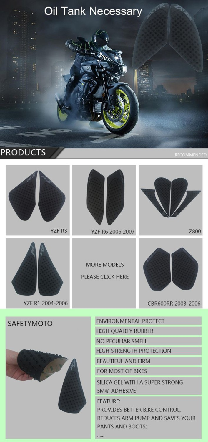 Motorcycle Anti slip Tank Pad 3M Side Gas Knee Grip Traction Pads Protector Stickers