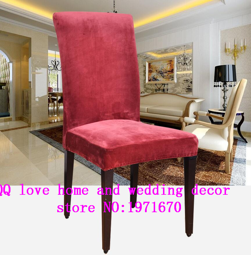 2017Simple Elastic Cloth Chair Covers Domestic Hotel Dining Set Covers  Thick Conjoined Stool Set Custom Hotel