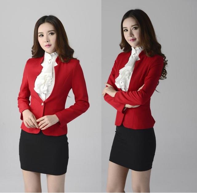 2015 novo estilo outono e inverno Formal uniforme elegante trabalho negócios profissional usar ternos e saia para senhoras