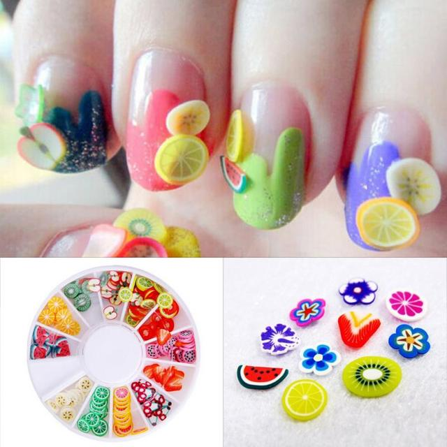 Lovely Fruit Styles Polymer Clay Nail Art 12 Kinds Of Nail Art