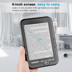 E-buch Tragbare E-papier E-tinte 6 zoll e-reader E-book Reader Paper unterstützung 29 sprachen Elektronische tinte ScreenReader 4G/8G/16G