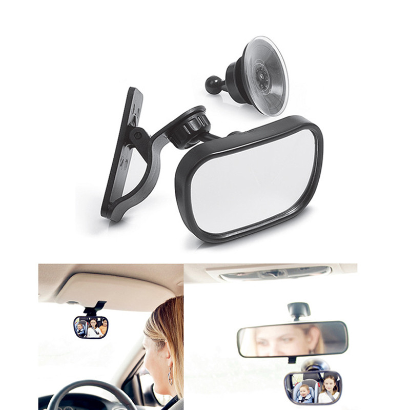 New 2 in 1 Baby Seat Mirror Rearview Mirror Easily Watch Your Baby with Clear View and Adjustable Rotation Design