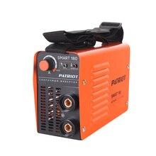 Аппарат сварочный инверторный PATRIOT SMART 180 MMA (Выходной ток 10-160 А, диаметр электродов 2.0-4.0 мм, мощность 3300 Вт, ПВ при макс.токе 60%)