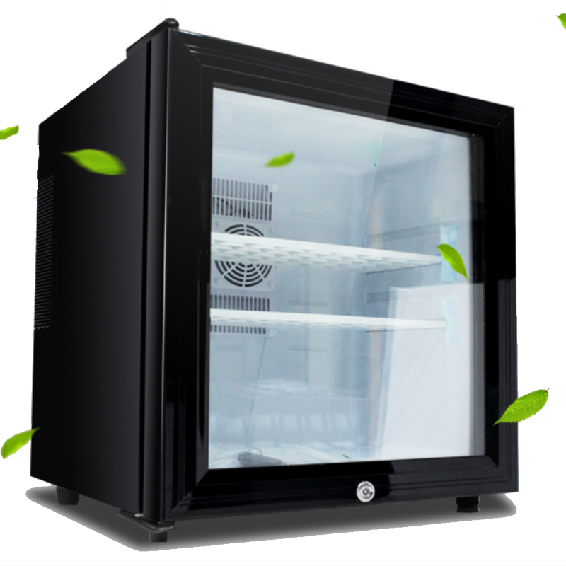 big capacity 30l glass door mini bar hotel fridge double cooling hotel with lock - Glass Door Mini Fridge