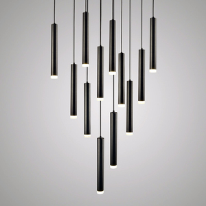 Image 4 - Led Pendant Lamps Long Tube Light Kitchen Island Dining Room Shop Bar Counter Decoration Cylinder Pipe Hanging Light Lamps
