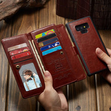 Luxury Wallet Leather Case For Samsung Galaxy Note 9 case 2 In 1 Magnetic Flip Handbag Coque Photo Frame