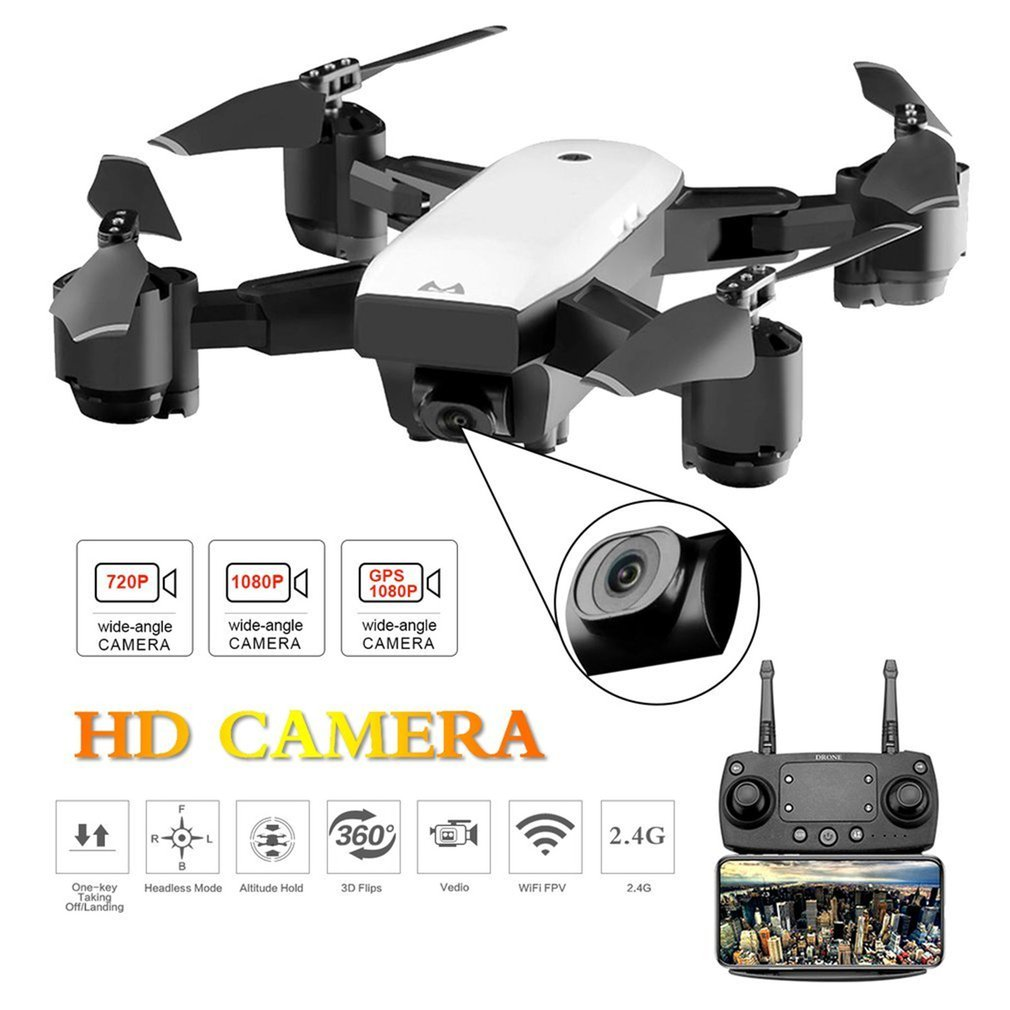 SMRC S20 Foldable 6-axis Gyro FPV Drone RC Quadcopter With 360' Flips Wide Angle 720P Camera Altitude Hold Dual Batteries
