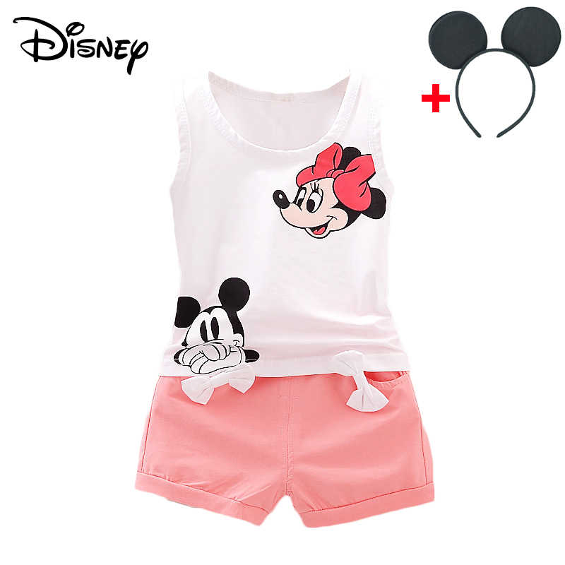 c37377f61425c Disney Mickey Minnie Baby Girl Clothes Korean Short Sleeved Tops ...
