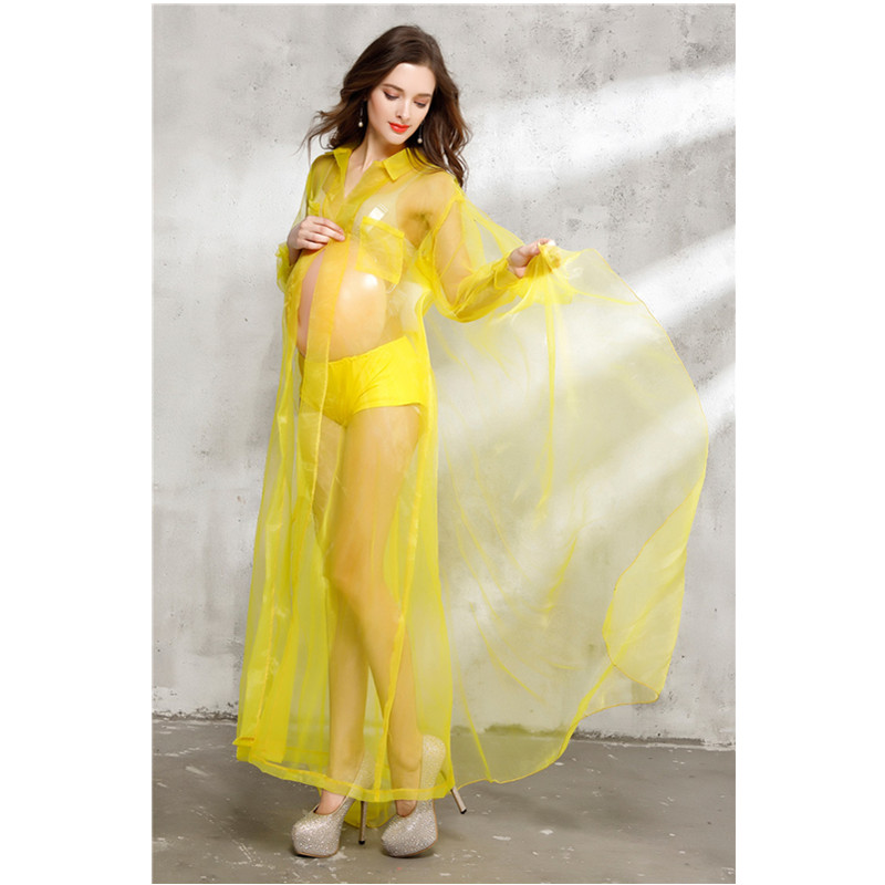 Sexy Maternity Dresses Yellow