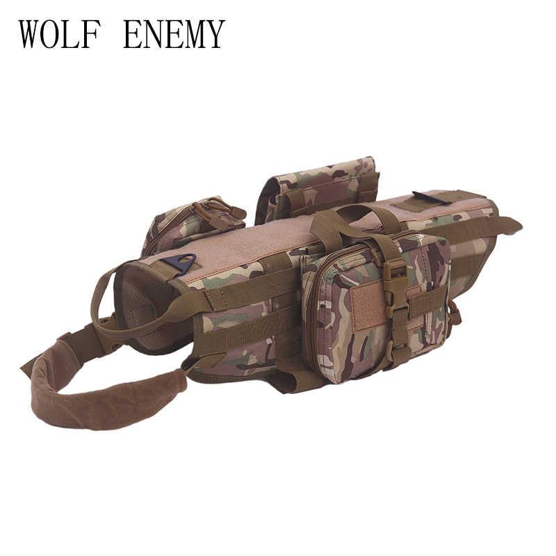 Armée tactique chien gilets militaire chien vêtements formation charge portant harnais SWAT chien formation sauvetage Molle gilet harnais XS-XL