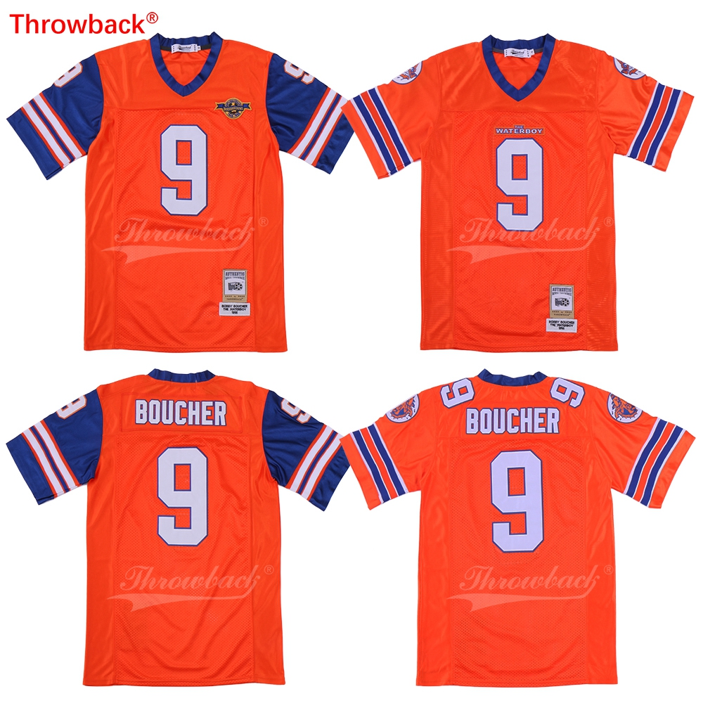 The Waterboy Mud Dogs Football Jersey Bobby Boucher Includes Bourbon Bowl  Patch S-3XL New Stitch Sewn American Football Jersey da610093a266