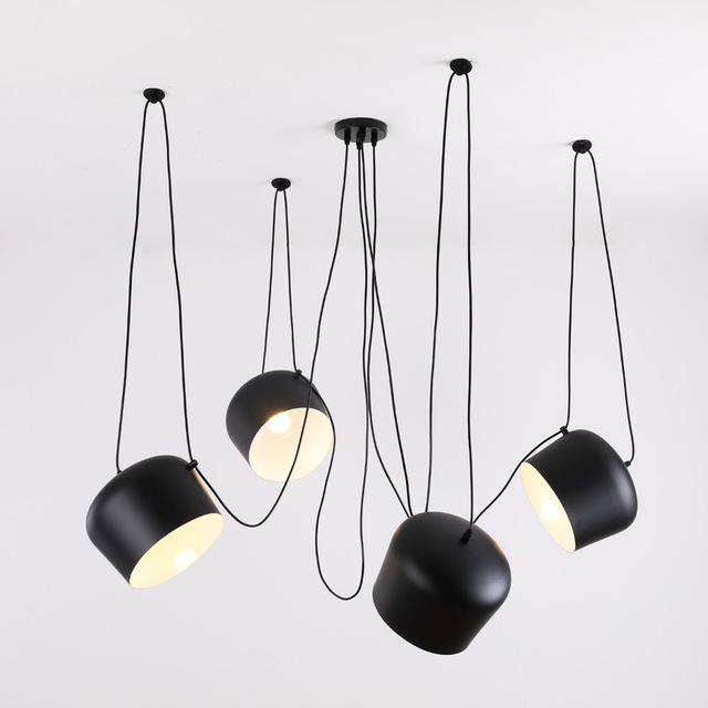 מותאם אישית מודרני עכביש תעשייתי תליון אורות לצלילה חדר/מסעדות מטבח תליון מנורות E27 גופי LED תליית מנורה
