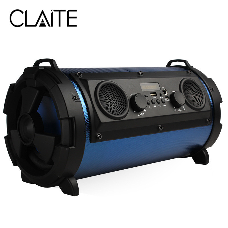 CLAITE 30W Subwoofer Outdoor Bluetooth Speaker 2000mah Portable Wireless Speaker with Mic 3D Stereo Home Theater Speaker bv200 portable wireless bluetooth speaker outdoor pocket stereo speaker
