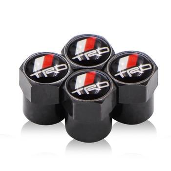 4PCS/set For Toyota CROWN REIZ TRD Racing LOGO Auto Accessories Wheel Tire Parts sport Valve Stem Caps Cover car styling Titelan