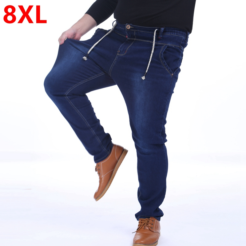 plus size male winter jeans pants 150kg 8xl 7xl 6xl thick. Black Bedroom Furniture Sets. Home Design Ideas